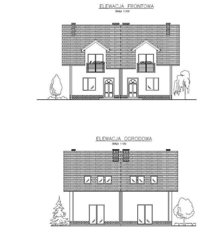 Przeglądasz zdjęcia z realizacji: Budynek mieszkalny jednorodzinny dwulokalowy