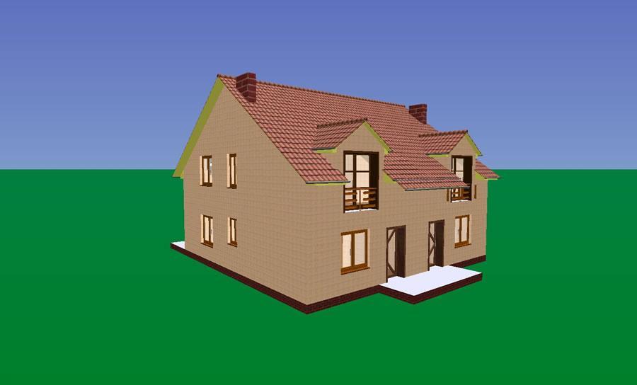 Przeglądasz zdjęcia z realizacji: Budynek w zabudowie bliźniaczej